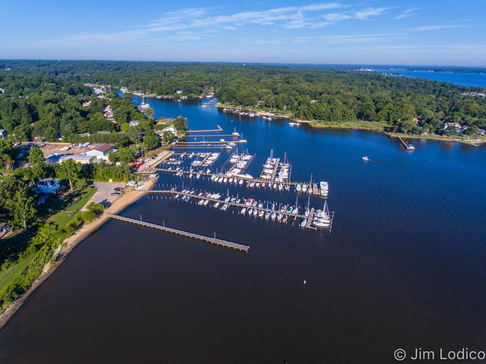 Yacht and marina aerial photography