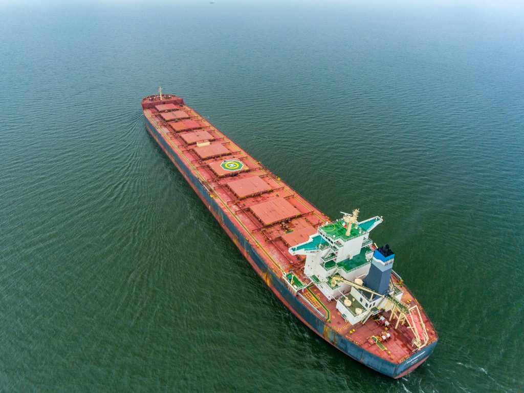 Drone photography ship